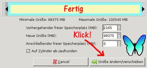 Systempartition vergrößern mit GParted -Bild 7