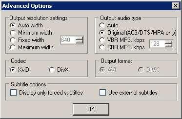 Auto Gordian Knot (AutoGK) - Advanced Options