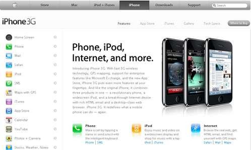 iPhone 3G (c) apple.com