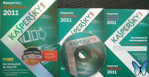 Kaspersky Anti-Virus 2011 Limited Edition unboxed