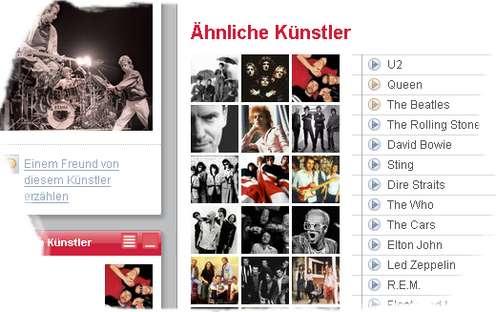 Last.fm - Similar Artists/Ähnliche Künstler