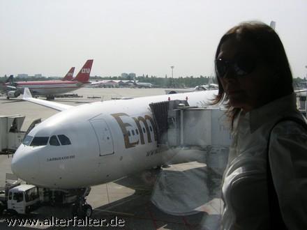 Flughafen Düsseldorf - auf nach Shanghai!