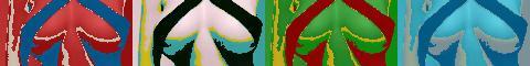 Kurven im Andy-Warhol-Stil