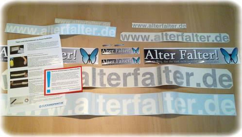 Alter Falter! Domain- und Logo-Aufkleber