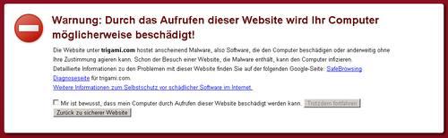 Warnung Diese Webseite Hätte Ihren Computer Beschädigen Können.
