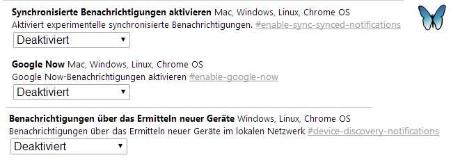Google-Now-Glocke deaktivieren unter about:flags.
